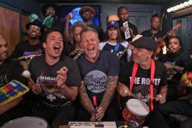I Metallica suonano con strumenti giocattolo al Tonight Show