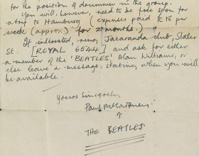 La lettera di Lennon a McCartney alla fine dei Beatles
