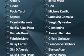 Svelati i 22 Big di Sanremo 2017