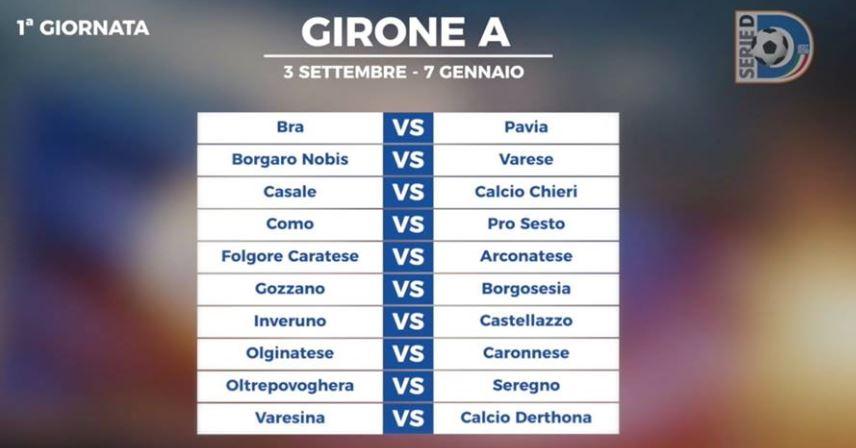 Calendario Serie A Seconda Giornata.Serie D Pubblicati I Calendari Il Primo Derby Alla Seconda