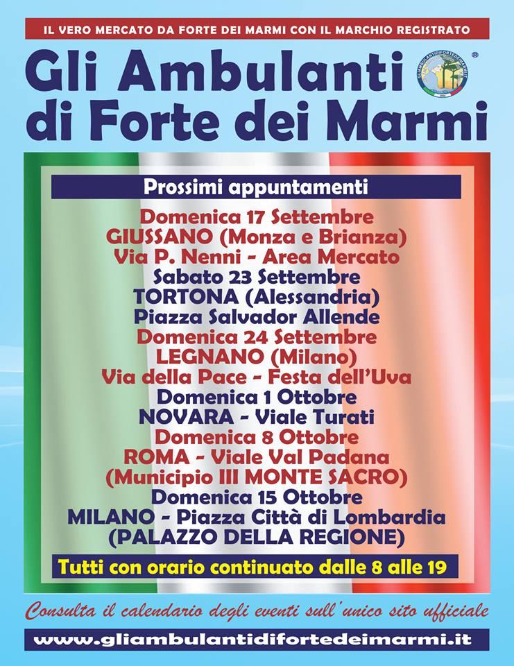 Gli Ambulanti Di Forte Dei Marmi Calendario 2020.Mercatino Forte Dei Marmi Calendario Lombardia Calendario 2020