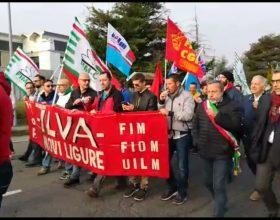 Immagine Il corteo dei lavoratori Ilva a Novi