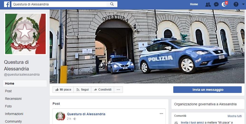 La questura di alessandria approda su facebook for Questura alessandria permesso di soggiorno