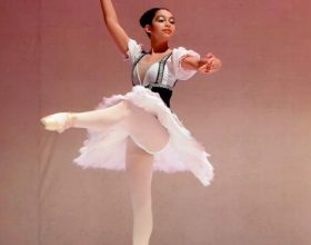 Sette ballerine del Peter Larsen Dance Studio a Montecarlo