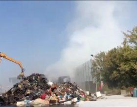 Nuovo intervento dei vigili del fuoco in discarica