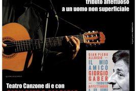 Gian Piero Alloisio omaggia l'amico Giorgio Gaber