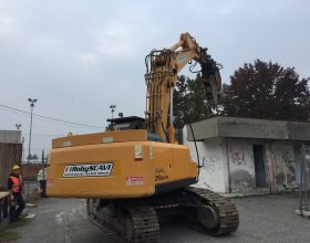 Demolizione ex bar Villaggio Alessandria