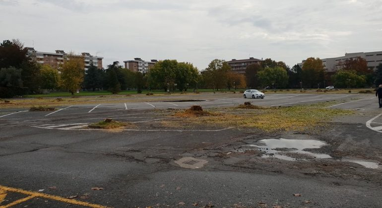 Piazzale Berlinguer alberi tagliati