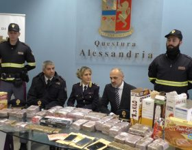 Polizia Stradale Casale sequestro 22 kg hashish