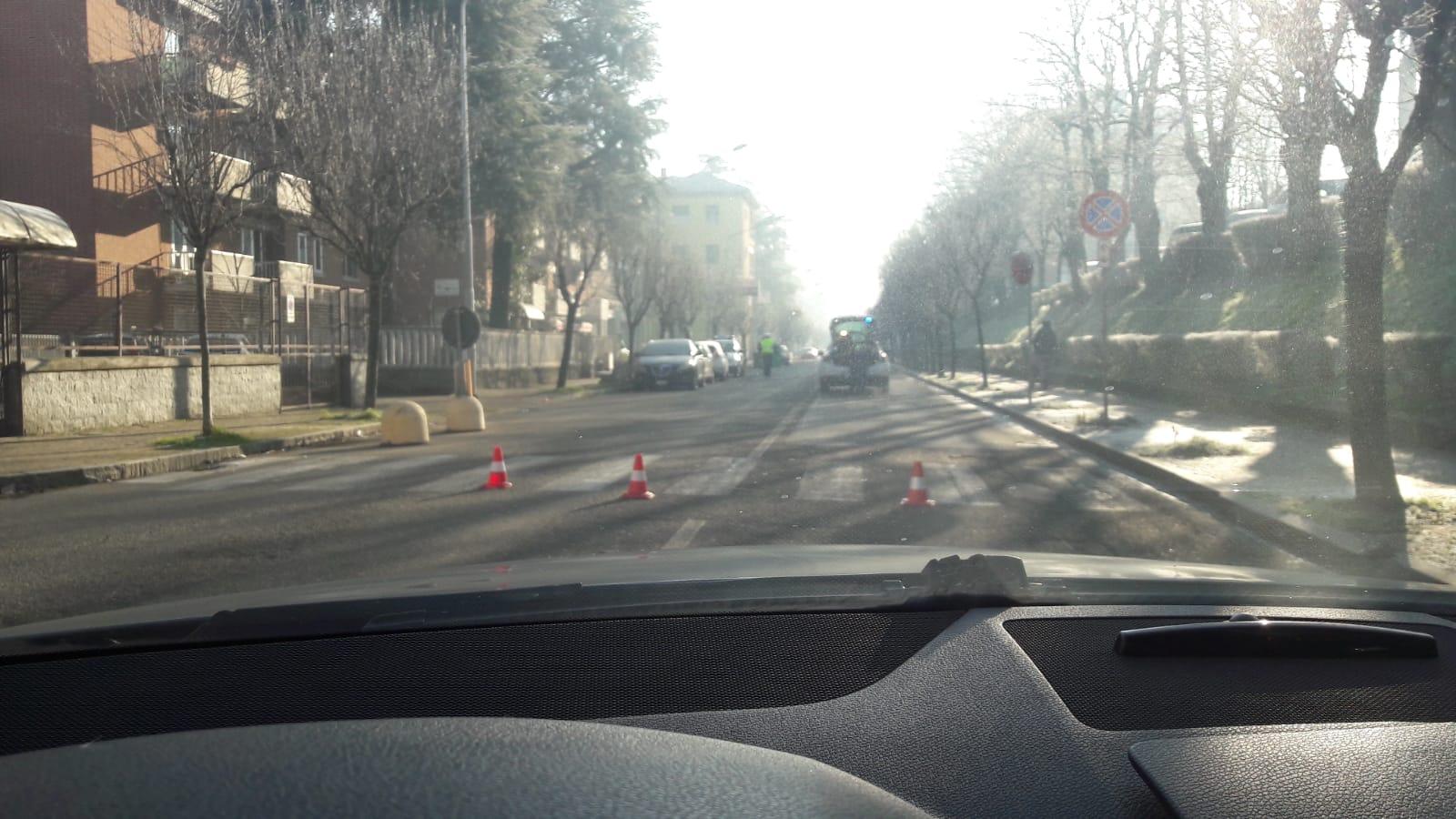 Incidente a Valenza in viale della Repubblica
