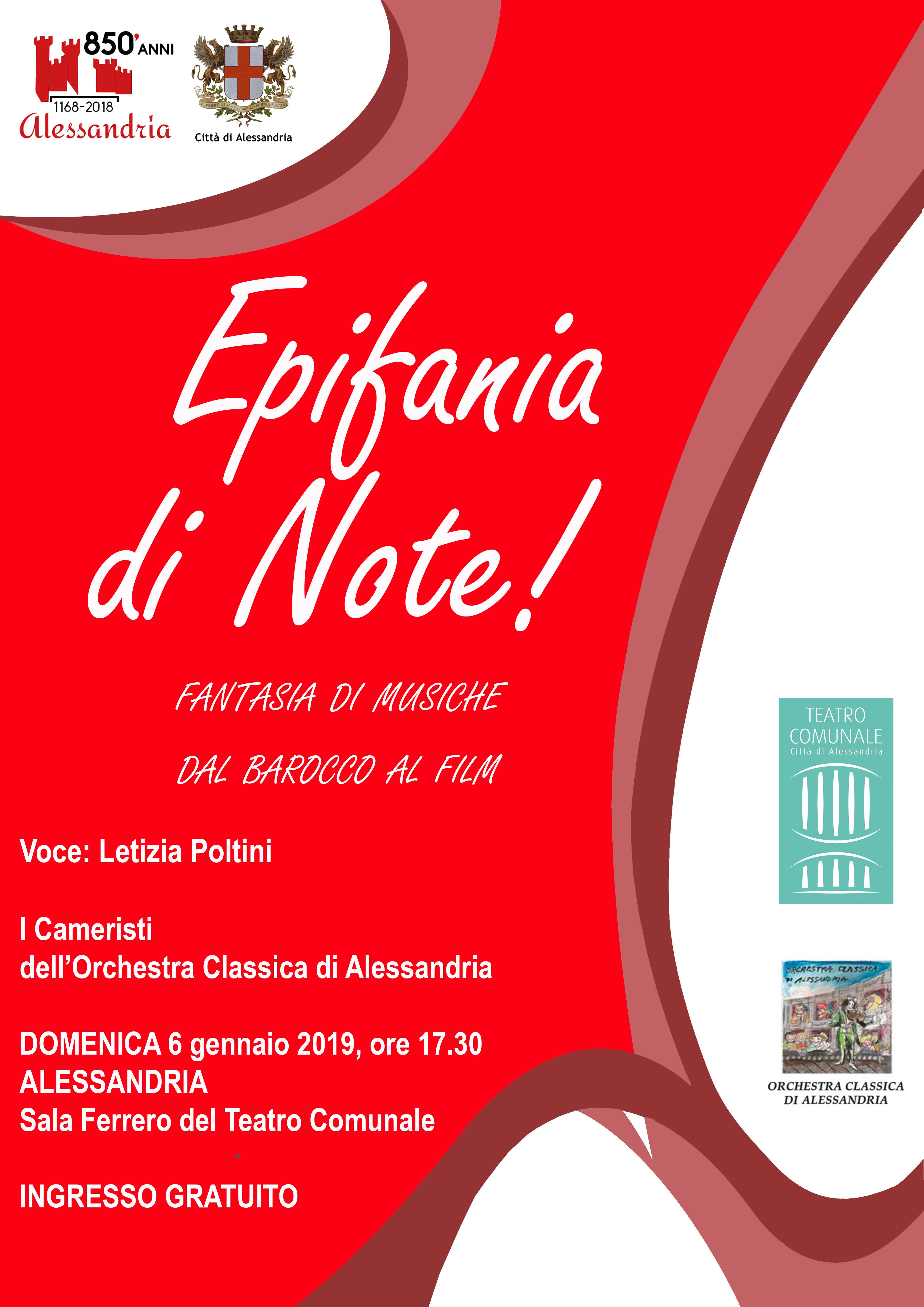 Locandina Concerto Epifania Alessandria 2019