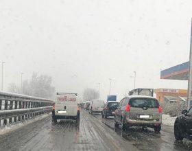 Neve 1 febbraio tangenziale Alessandria