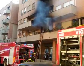 Incendio a Casale in via Celoria 25 febbraio 2019