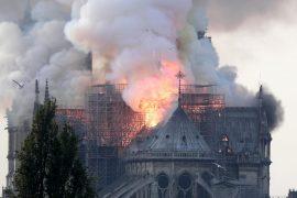 Incendio a Notre Dame (FOTO ANSA)