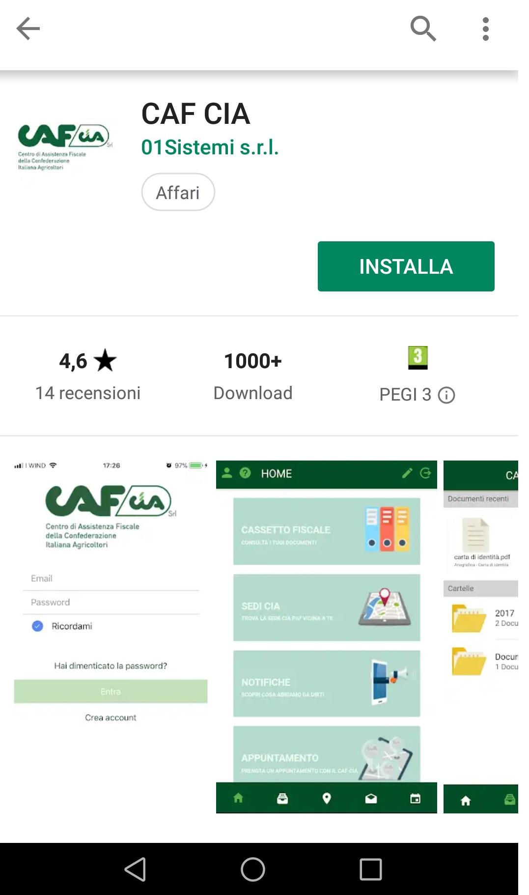 App Caf Cia