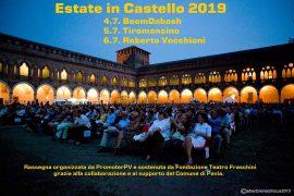 Vecchioni, Tiromancino e Boomdabash a Pavia per Estate in Castello