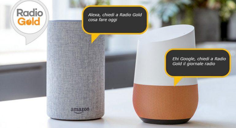 Smart Speaker Radio Gold