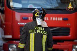 Immagine Incendio a Rosignano Monferrato, prende fuoco una legnaia