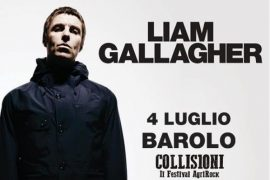 Liam Gallagher arriva al Collisioni festival 2019 a Barolo il 4 luglio