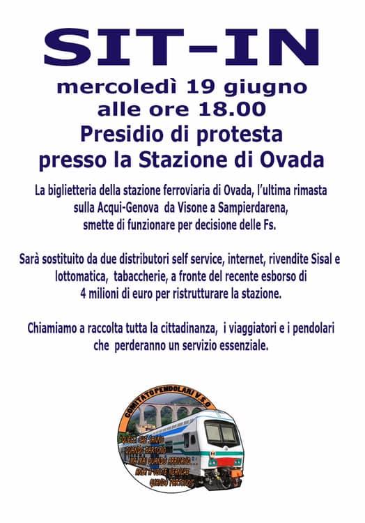 Sit-in Ovada per la biglietteria