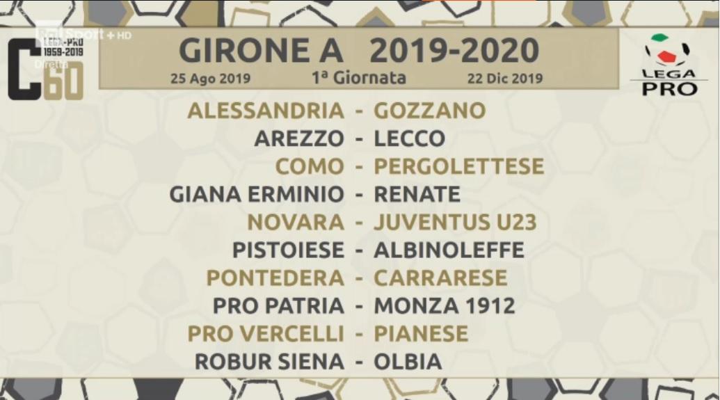 Calendario Lega Pro Girone A 2020 2020.Serie C Ecco Il Calendario Per L Alessandria Esordio In
