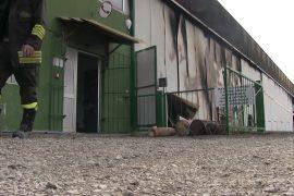 Incendio Francavilla Bisio aviosuperficie