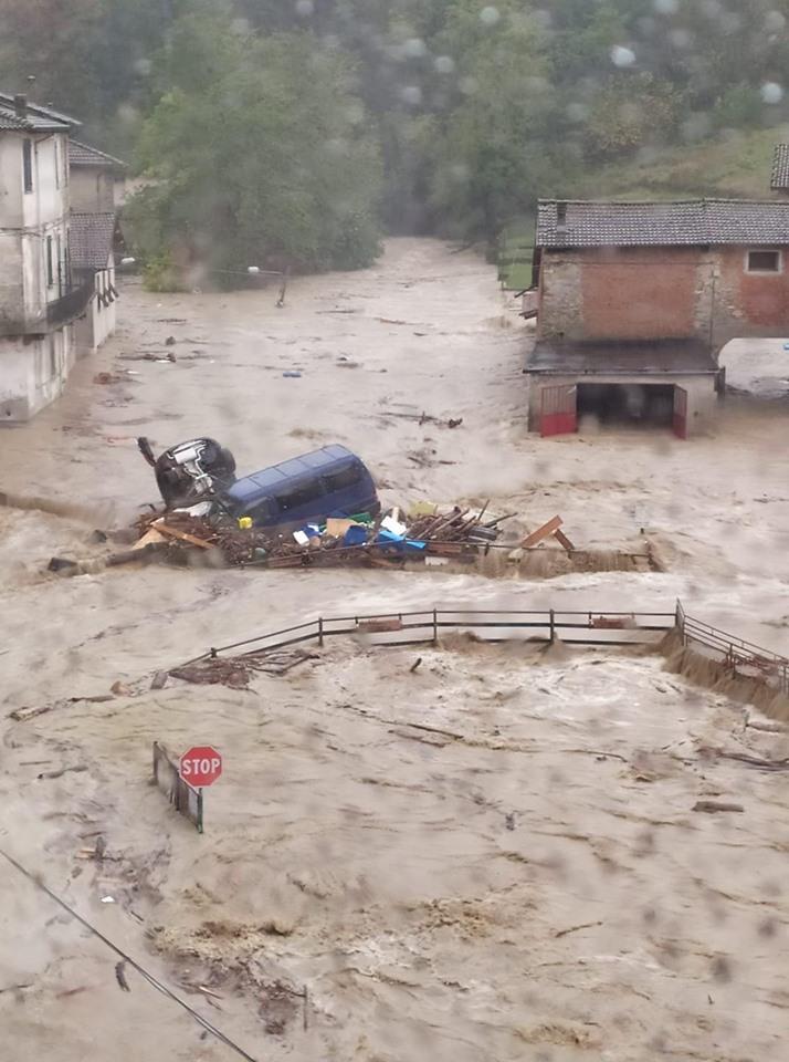 """Il sindaco di Castelletto d'Orba: """"è un disastro. Siamo sott'acqua"""""""
