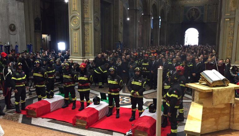 Funerali vigili del fuoco alessandria