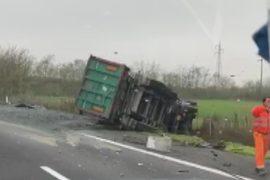 Mezzo pesante incidente