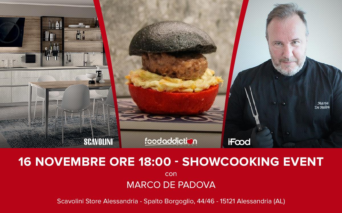 Show-cooking gratuito di Marco De Padova allo Scavolini Store di Alessandria - Radiogold
