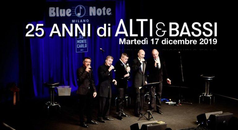 Alti & Bassi festeggiano 25 anni di carriera al Blue Note di Milano