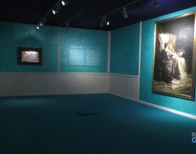 Il Goethe morente e Siesta invernale di Morbelli alle Sale d'Arte