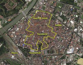 Mappa area chiusa al traffico Alessandria