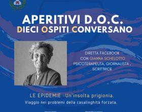 """""""LE EPIDEMIE – un'insolita prigionia"""" con Gianna Schelotto ad Aperitivi D.O.C."""