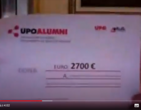 La consegna dell'Upo Alumni dell'assegno benefico all'Ospedale di Alessandria