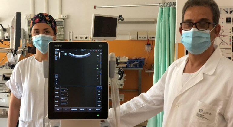 In funzione all'Ospedale di Alessandria uno degli ecografi acquistati grazie a Solidal