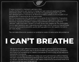 """""""I can't breathe"""": anche la Junior Casale si unisce alla protesta per morte di George Floyd"""
