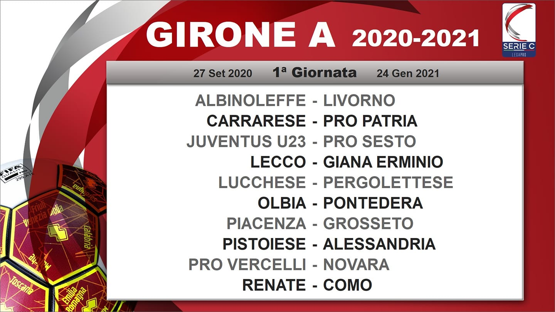 Prima giornata Lega Pro 2020-2021