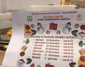 Le prelibatezze del mercato Campagna Amica in via Guasco ad Alessandria