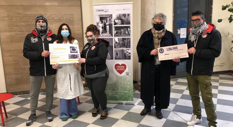 I Supporters dei Grigi donano 1110 euro alla Fondazione Solidal per l'Ospedale di Alessandria