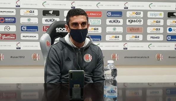 """Immagine Alessandria, Longo: """"Vittoria salutare. I giocatori mi mettano in difficoltà"""""""