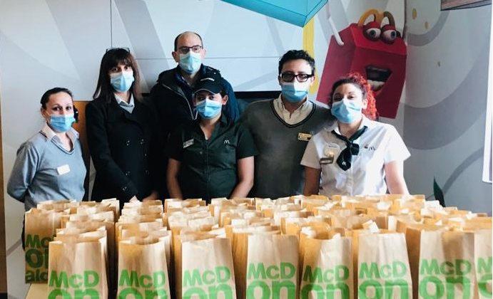 McDonald's Serravalle e Fondazione McDonald: 200 pasti caldi al mese a famiglie in difficoltà