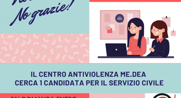 Servizio Civile: il centro antiviolenza me.dea cerca una candidata
