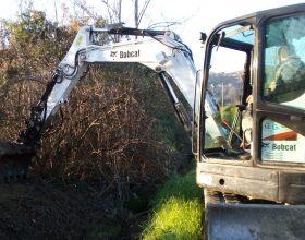 Fossi puliti ad Acqui Terme per evitare allagamenti e smottamenti