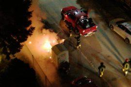 Immagine Vandali di nuovo in azione: cassonetti dati alle fiamme al Cristo ad Alessandria