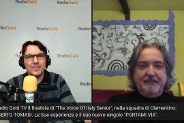 Immagine Protagonista di The Voice of Italy Senior, Roberto Tomasi su Radio Gold Tv