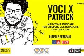 Voci X Patrick: il mondo della musica italiana per Patrik Zaki