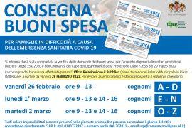 Immagine Dal 26 febbraio consegna dei buoni spesa-covid del Comune di Novi Ligure
