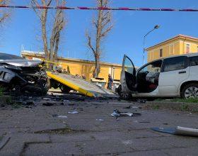 Il video dell'incidente avvenuto tra due auto in viale Teresa Michel ad Alessandria