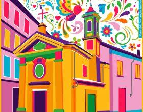 Le illustrazioni di Denise colorano Alessandria